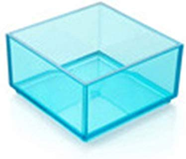 Caja de almacenamiento apilable Tipo europeo para ordenar cajones, Caja de almacenamiento transparente para escritorio, Organizador para el hogar, Azul, Pequeño Cloverclover: Amazon.es: Hogar