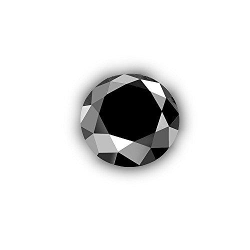 Glitz Design Black Diamond Round-Cut Loose Diamond Enhanced Earth-mined Natural 0.01 ct 1.30 mm