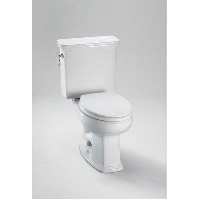 Promenade Round Toilet Bowl - Toto CST423SFG Cotton White Promenade Toilet, Round Bowl 1.6 GPF SanaGloss