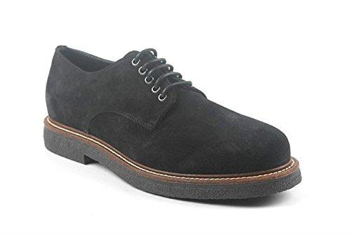 Frau Chaussures Derby Homme Bleu Suede 76B1 en 2015
