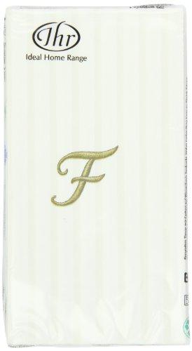 - Ideal Home Range Monogram Guest Towel, Letter F (Pack of 3)
