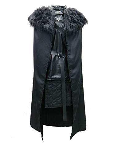 HalloweenCostumeParty Jon Snow Knights Watch Cosplay Costume Outfit for Man (XXL(5.90), Knights Watch) -