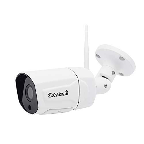 HD 1080P WiFi Bullet IP Camera, H.265 Video Coding, Support IR Night Vision, Motion Detection Alarm, IP66 Waterproof for Indoor Outdoor, with SD Card Slot