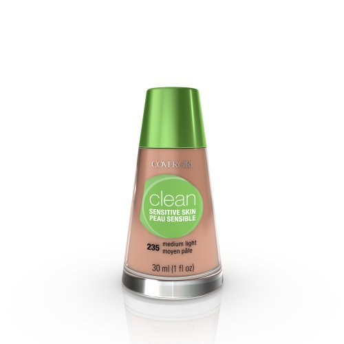 (CoverGirl Clean Sensitive Skin Liquid Makeup, Medium Light 235, 1.0-Ounce Bottles (Pack of 2))