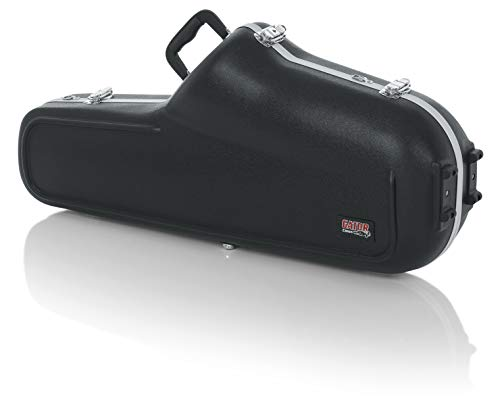 Gator Cases Lightweight Molded Tenor Saxophone Case with Locking Latch and Plush Lined Interior (GC-TENOR-SAX) (Lj Hutchen Bb Trumpet With Plush Lined Case)