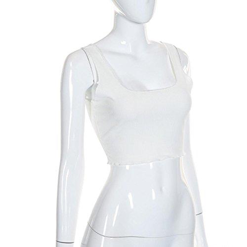 ... Fuera del hombro Casual Sujetador deportivo acolchado Camisetas sin mangas Crop Tops Bustier Camisola Camiseta blusa LMMVP (M, Blanco): Amazon.es: Hogar