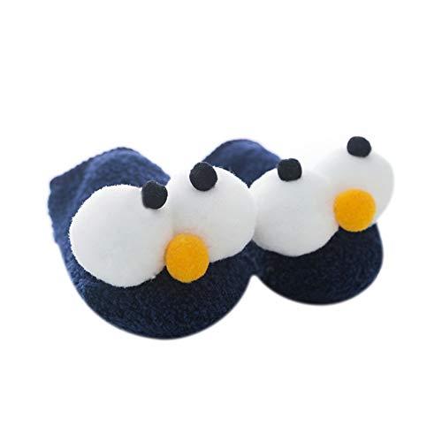 Calcetines de algodón grueso para bebé, antideslizantes, con empuñaduras, para niños de 0 a 3 años de edad, Azul marino,...