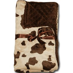 Amazon Com Personalized Cow Print Minky Chenille Baby Blanket