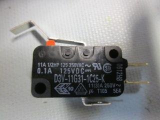 Spdt Microswitch (Microswitch, Miniature, Long Hinge Lever, SPDT, Quick Connect, 11 A, 250 VDC)