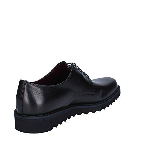 Roberto Botticelli Zapatos de Cordones de Piel Para Hombre Negro Negro