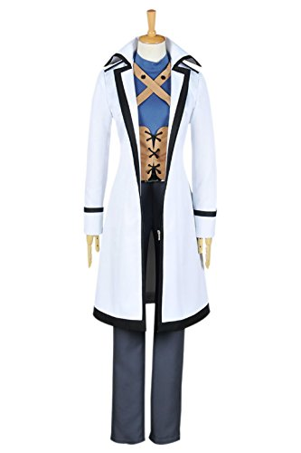 Fairy Tail Gray Fullbuster Costume (XOMO Fairy Tail Cosplay Wizard Gray Fullbuster Costume Uniform M)