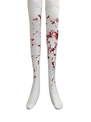 Easter Bunny Costume Hire (Zando Halloween Womens Creepy Sexy Clown Fancy Dress Party Cosplay Costumes Socks One Size)