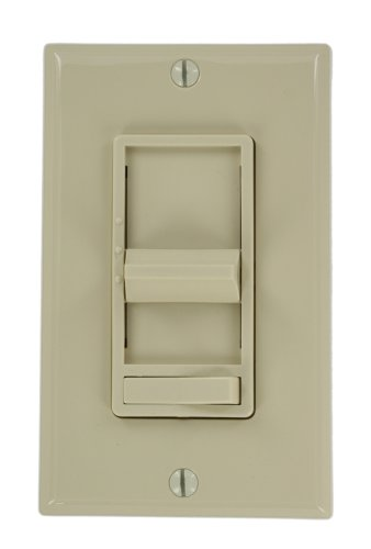 Leviton 6629-3I SureSlide 1.5A Quiet Step Fan Speed Control, Single Pole or 3-Way, Ivory