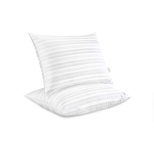 downluxe Down Alternative Bed Pillows - Set of 2 Hotel Collection Plush Pillows for Sleeping,King Size 20x36