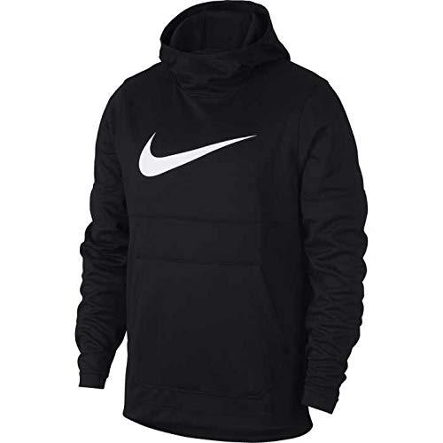 - Nike Mens Spotlight Pull Over Hooded Sweatshirt Black/White 925634-010 Size Large