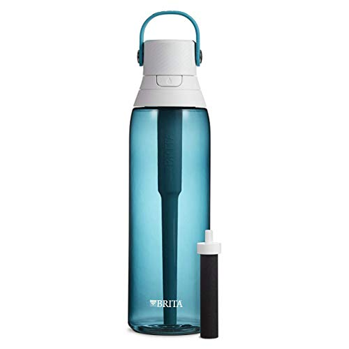 Price comparison product image Brita 26 Ounce Premium Filtering Water Bottle with Filter BPA Free - Sea Glass (Renewed)