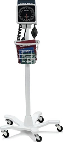 Welch Allyn 7670-06P 767 Aneroid Mobile Stand Kit with Basket for Aneroid Gauge (Welch Stand Allyn Mobile)