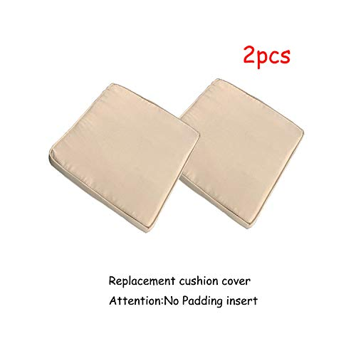 (Do4U 2 Pcs Rattan Wicker Outdoor Dining Chairs Cushion Cover (2 Pcs Light Brown Cushion Cover))