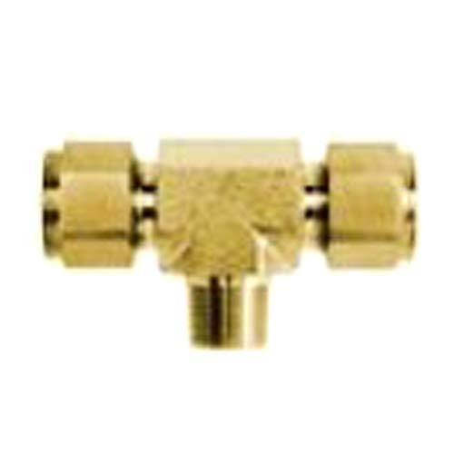 Brennan Industries N2601-04-04-04-B Brass Tee Double-Ferrule Tube Fitting 1//4 Tube x 1//4 Tube x 1//4 Male NPT 1//4 NPT Male Thread 1//4 Tube x 1//4 Tube x 1//4 Male NPT Inc. 1//4 NPT Male Thread