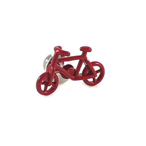MENDEPOT Novelty Red Bike Lapel Pin Red Color Bicycle Suit (Bike Pin)