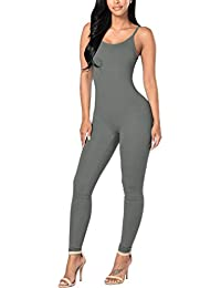 Womens Spaghetti Strap Bodycon Tank One Piece Jumpsuits...