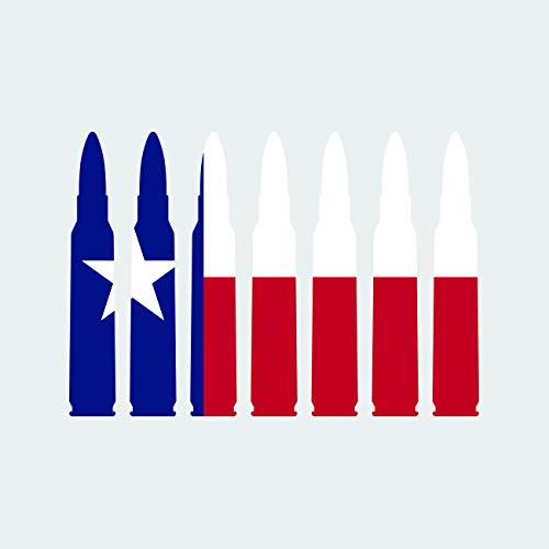 Texas Flag Bullet Ammo Sticker Self Adhesive Vinyl Decal FA Graphix TX .223 5.56mm 2a 2nd Gun Rights - 5.00 ()