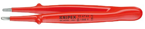 KNIPEX 92 67 63 1,000V Insulated Precision Tweezers