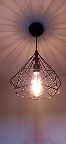 DarkVision Ceiling Lamp, Black, Diamond