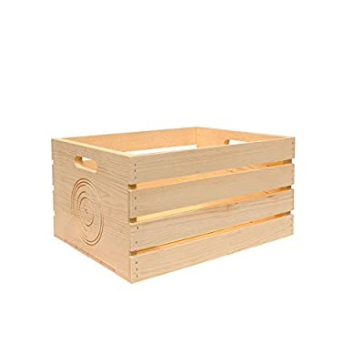 Pine Storage Crate for LP's/Albums (2 Pack)