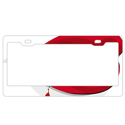 KSLIDS 3D Halloween Vampire Metal License Plate Frame Tag Holder with Screw Cap Covers]()