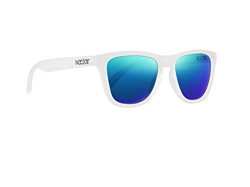 NECTAR Polarized Sunglasses for Men & Women with UV Protection | Over 20 Styles (White Frames | Blue Mirror EuphoricHD Polarized - Online Branded Sunglasses