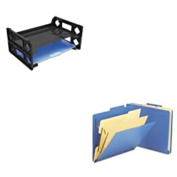 KITSMD14045UNV08100 - Value Kit - Smead 2-1/2amp;quot; Expansion Heavy-Duty Poly Classification Folders (SMD14045) and Universal Side Load Letter Desk Tray (UNV08100)