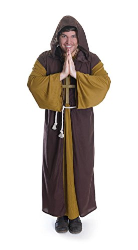 Bristol Novelty AC708 Friar Tuck Costume, Dark Yellow, 44-Inch]()