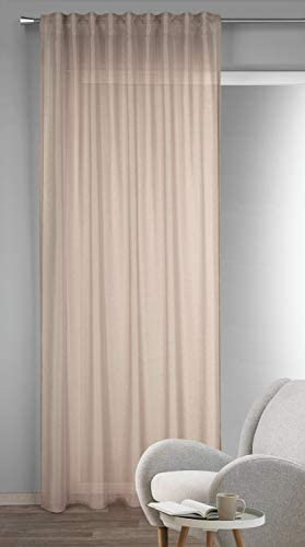 Albani Nine – Sciarpa con passanti nascosti, 245 x 135 cm, colore: Bianco, Tessuto, Lino, 245x135cm