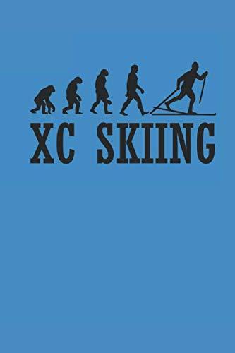 XC SKIING: Notizbuch Langlaufen Notebook Cross Country Skiing Journal 6x9 kariert squared karo (Karierte Brille)