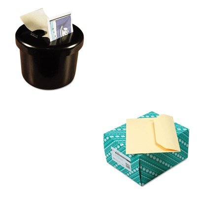 KITLEE40100QUA54411 - Value Kit - Quality Park Open Side Booklet Envelope (QUA54411) and Lee Ultimate Stamp Dispenser (LEE40100)