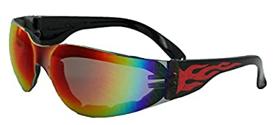 Global Vision Eyewear Rider Flame Series Sunglasses with G-Tech Red Safety Lenses