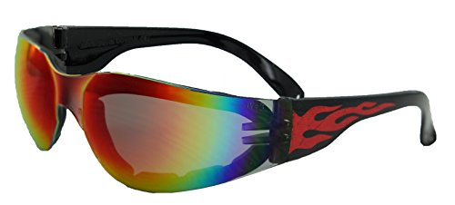 70322380fcf Global Vision Eyewear Rider Flame Series Sunglasses with G-Tech Red Safety  Lenses