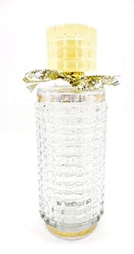 - Vintage Depression Perfume Bottle,Top,Clear Glass (Tall)
