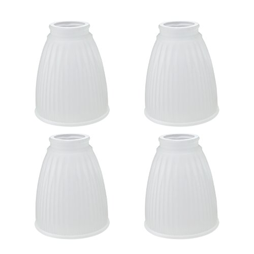 Aspen Creative 23037-4 Transitional Style Replacement Frosted Ribbed Glass Shade,