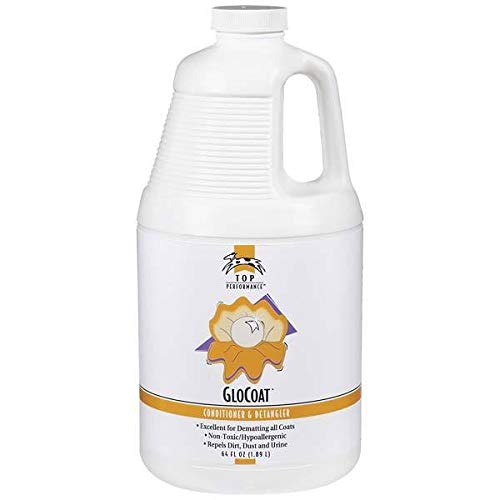 MPP Glo Coat Dog Leave in Detangling Conditioner Cherry Almond Scent Choose Size (64 Oz) by MPP