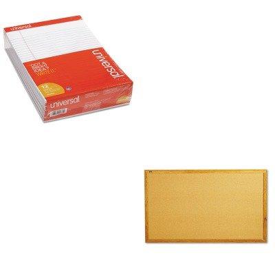 KITQRT305UNV20630 - Value Kit - Quartet Bulletin Board (QRT305) and Universal Perforated Edge Writing Pad (UNV20630) by Quartet