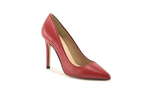 ConBuenPie by ENYA - New Collection - Salon de Piel Stiletto de Mujer Colores Rojo y Negro Rojo