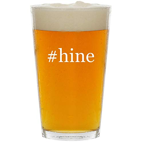 #hine - Glass Hashtag 16oz Beer Pint