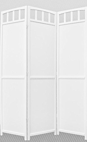 Legacy Decor 3-panel Screen Room Divider Solid Wood White Fi
