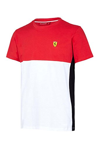 Scuderia Ferrari Formula 1 Men's Red/White/Black 2017 Cut and Sew T-Shirt F1 - Men Ferrari Scuderia