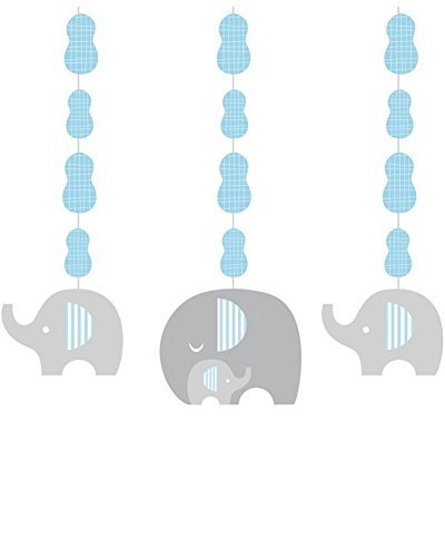 Creative Converting Little Peanut Boy Hanging Decorations (Pack of 9)   Baby Show Party Accessory -