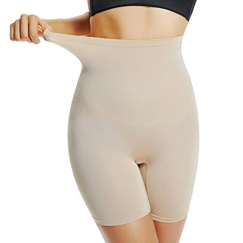 Joyshaper Womens Slip Short Panty High Waist Thigh Slimmer Shapewear Tummy Control Shorts for Underwear (Beige, XXX-Large)