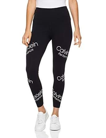 Calvin Klein Women's High Waist Printed 7/8 Leggings, Black Combo, XS