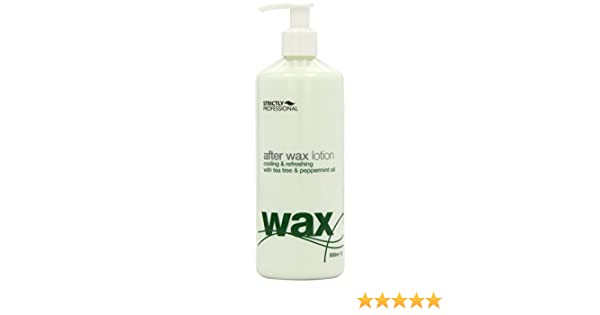 Amazon.com : Strictly Professional After Wax Lotion with Tea Tree and Peppermint Oil 500ml : Beauty
